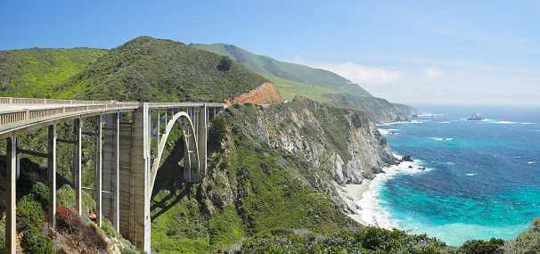 Monterey Peninsula「Bixby Bridge and Big Sur coastline」:スマホ壁紙(10)