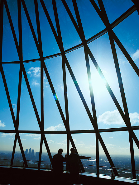Skyscraper「30 St Mary Axe, or the Gherkin, interior view at the top of the tower」:写真・画像(19)[壁紙.com]