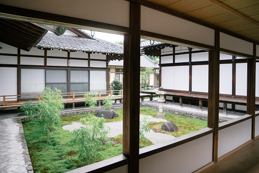 Kyoto City「Buddhist temple garden view」:スマホ壁紙(11)