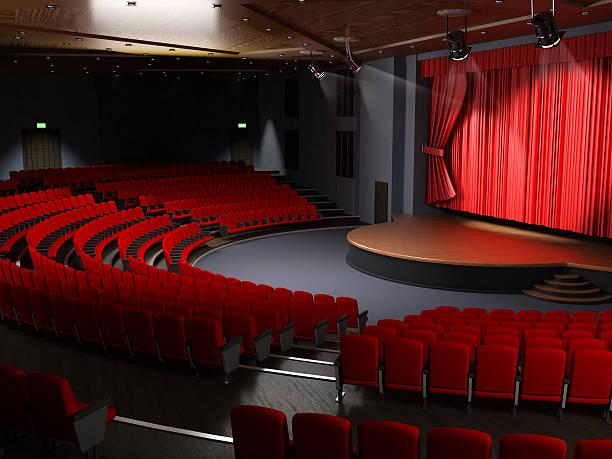Theater hall with empty seats:スマホ壁紙(壁紙.com)
