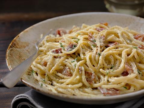 Poached Food「Spaghetti Carbonara」:スマホ壁紙(6)
