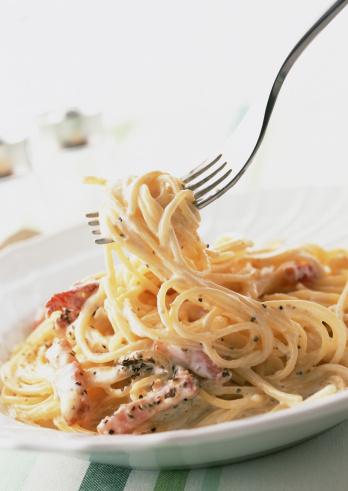 Fork「Spaghetti Carbonara」:スマホ壁紙(18)