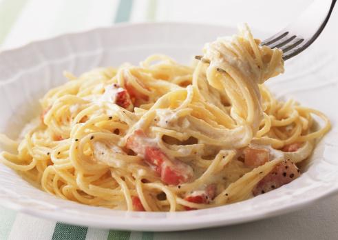 Fork「Spaghetti Carbonara」:スマホ壁紙(17)