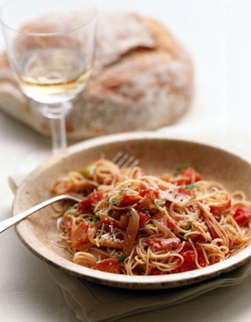 Loaf of Bread「Spaghetti Carbonara with wine」:スマホ壁紙(0)