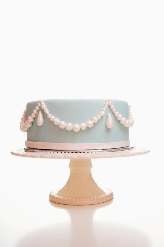 結婚「Light Blue Wedding Cake With Pearl Designs 」:スマホ壁紙(12)