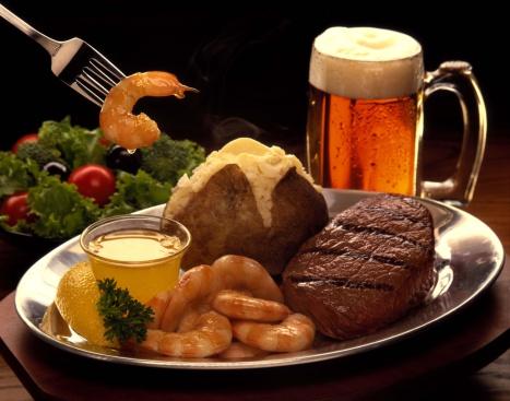 Baked Potato「Steak and shrimp」:スマホ壁紙(18)