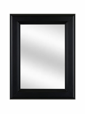 Black Border「Black Picture Frame with Mirror, Classic, White Isolated」:スマホ壁紙(9)