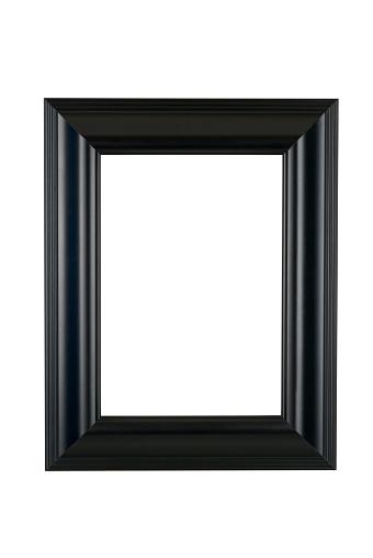 Black Border「Black Picture Frame in Satin Finish, White Isolated」:スマホ壁紙(6)