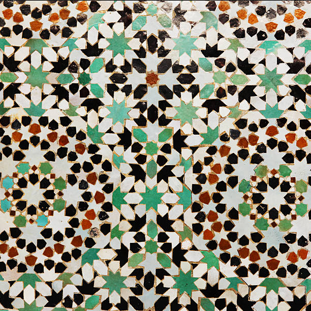 Floral pattern in tiles from Meknes medina, Morocco:スマホ壁紙(壁紙.com)