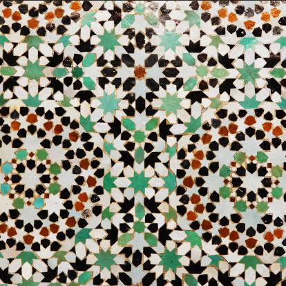 Indigenous Culture「Floral pattern in tiles from Meknes medina, Morocco」:スマホ壁紙(0)