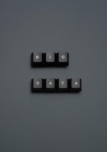 """Computer Key「""""BIG DATA"""" spelled out on keyboard keys on grey」:スマホ壁紙(8)"""