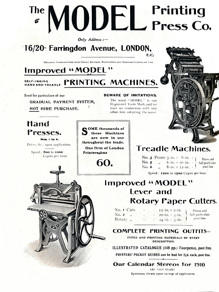 Model - Object「The Model Printing Press Co, 1910」:写真・画像(6)[壁紙.com]
