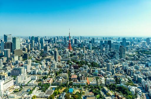 東京都中央区「街並みと東京湾のダウンタウン方面に向かいます。」:スマホ壁紙(15)