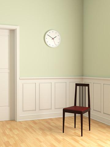 Clock「エレガントな椅子で空室 XL」:スマホ壁紙(11)