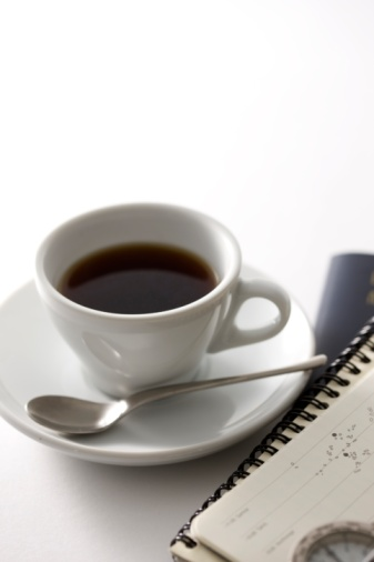 Coffee Break「A cup of coffee and a notebook」:スマホ壁紙(14)