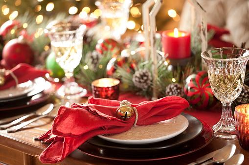 Christmas Decore Candle「Christmas Holiday Dining」:スマホ壁紙(6)