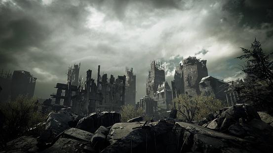Overcast「Post Apocalyptic Urban Landscape」:スマホ壁紙(8)