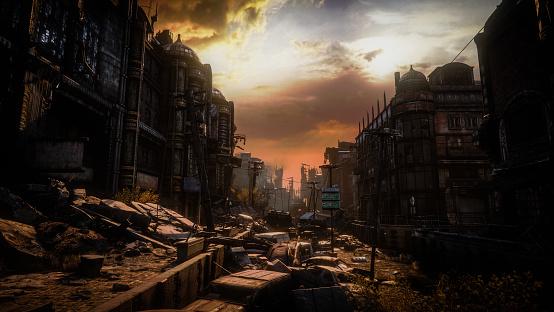 Hell「Post Apocalyptic Urban Landscape (Dusk/Dawn)」:スマホ壁紙(14)