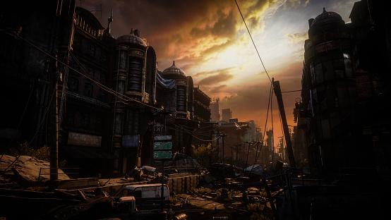 Hell「Post Apocalyptic Urban Landscape (Dusk/Dawn)」:スマホ壁紙(17)