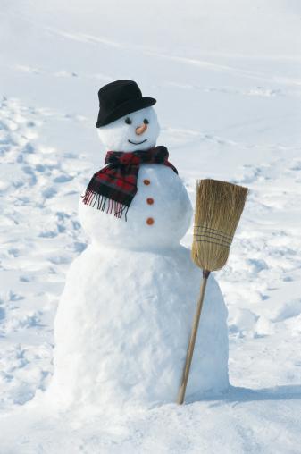 雪だるま「Snowman, close up」:スマホ壁紙(5)