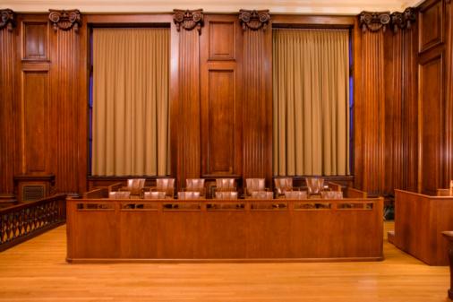 Wood Paneling「Jury box in courtroom」:スマホ壁紙(19)