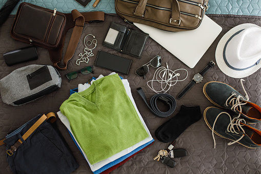 Wallet「Male fashion accessories flatlay」:スマホ壁紙(18)