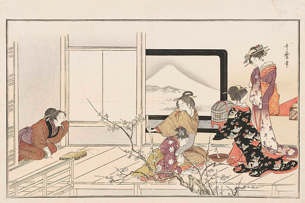 Edo Period「Preparing Food For A Nightingale」:写真・画像(16)[壁紙.com]