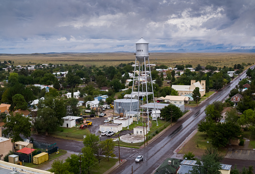 Texas「Marfa, Texas in the Rain - Aerial」:スマホ壁紙(11)