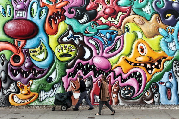 Graffiti「Mural By Graffiti Artist Kenny Scharf Is Latest Work To Adorn Bowery Mural Wall」:写真・画像(5)[壁紙.com]