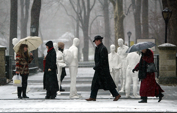 Ice Sculpture「New York Weathers Its First Major Snowfall Of The Season       」:写真・画像(6)[壁紙.com]