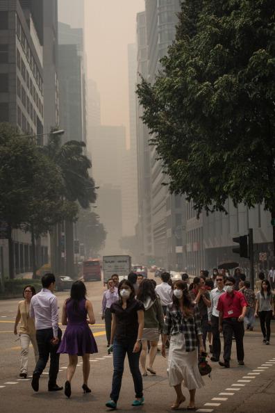 Pedestrian「Singapore Air Quality Reaches 'Hazardous' Levels」:写真・画像(12)[壁紙.com]
