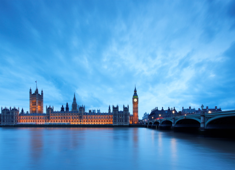 Gothic Style「Big Ben & Parliament in London at dusk」:スマホ壁紙(3)