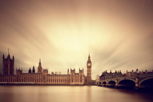 19th Century「Big Ben & Parliament in London」:スマホ壁紙(19)