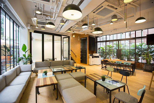 Business Finance and Industry「A Co-Working Space Area Empty」:スマホ壁紙(10)