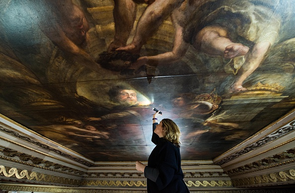 Ceiling「Renovations Begin At The Banqueting House In Whitehall」:写真・画像(13)[壁紙.com]