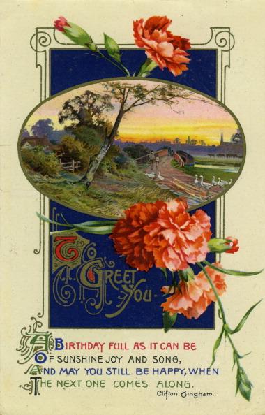 Birthday Card「Birthday postcard, c1911.」:写真・画像(19)[壁紙.com]