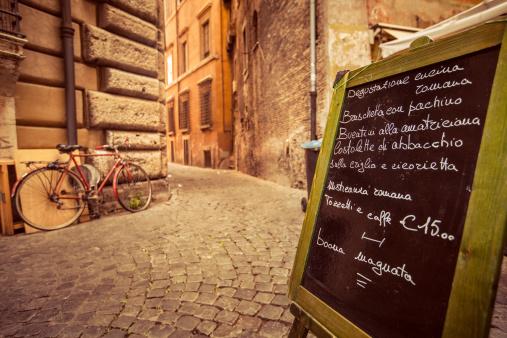 Tourist「Restaurant Menu on the Street in Rome」:スマホ壁紙(2)