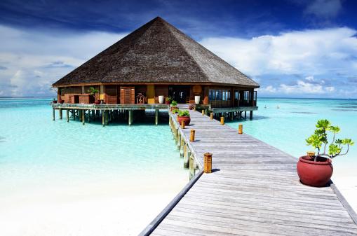 Resort「Restaurant on the Maldives」:スマホ壁紙(12)