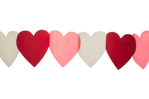 ハート「Paper hearts garland decoration」:スマホ壁紙(8)