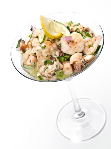 はまぐり料理「エビのセビーチェはカクテルグラス。」:スマホ壁紙(5)