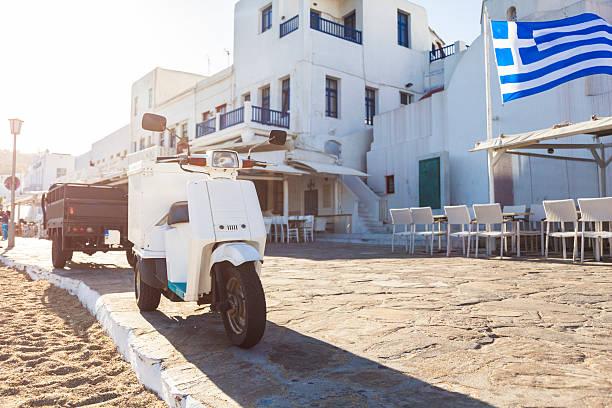 Promenade in Mykonos Town (Mykonos Island, Cyclades, Greece):スマホ壁紙(壁紙.com)