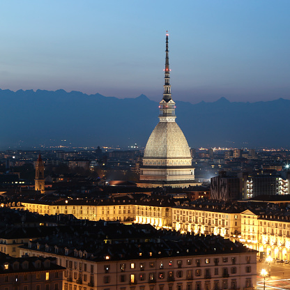 Piedmont - Italy「Turin at night」:スマホ壁紙(5)