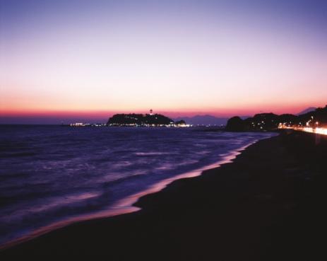 Kamakura City「Shichirigahama Beach in the evening」:スマホ壁紙(7)