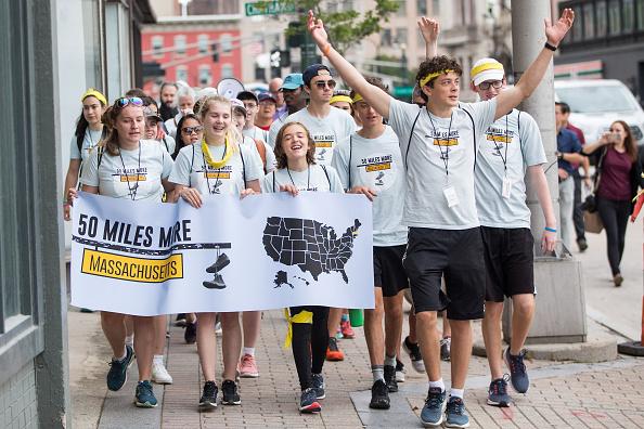 Scott Eisen「Parkland Shooting Survivor And Activist David Hogg Leads March Against Gun Violence In Massachusetts」:写真・画像(11)[壁紙.com]