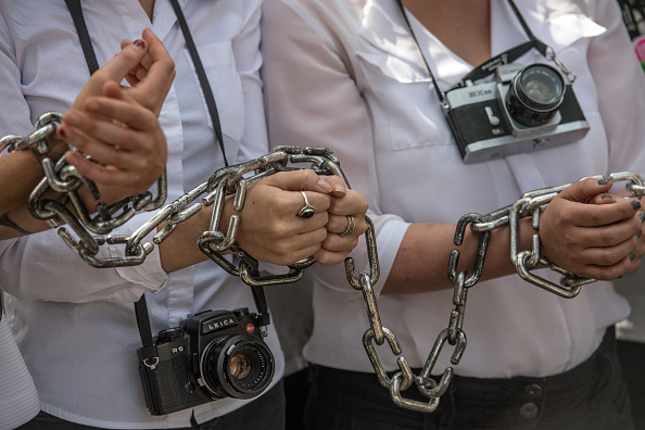 Journalist「Activists Highlight Plight Of Jailed Photojournalist Outside Egyptian Embassy」:写真・画像(5)[壁紙.com]