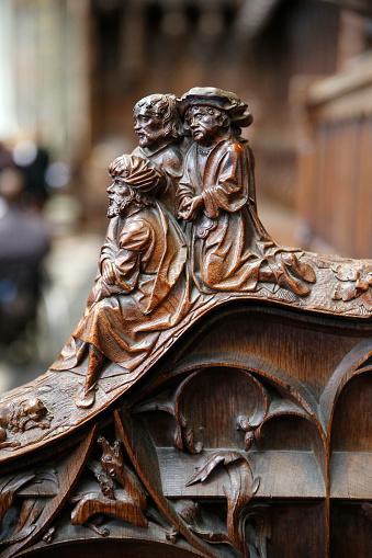 Singer「Notre-Dame d'Amiens cathedral. Choir. Woodworks.」:スマホ壁紙(16)