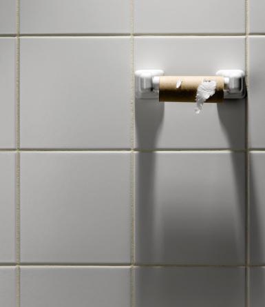 Toilet Roll Holder「Empty toilet paper roll on holder」:スマホ壁紙(9)