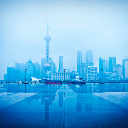 East China「Modern City. Panoramic view of Shanghai」:スマホ壁紙(2)