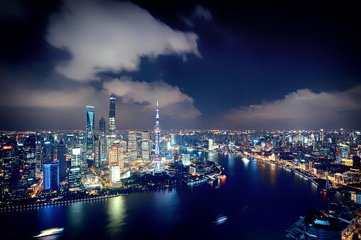 4k「近代的な街並みと上海の街並みの眺め」:スマホ壁紙(15)