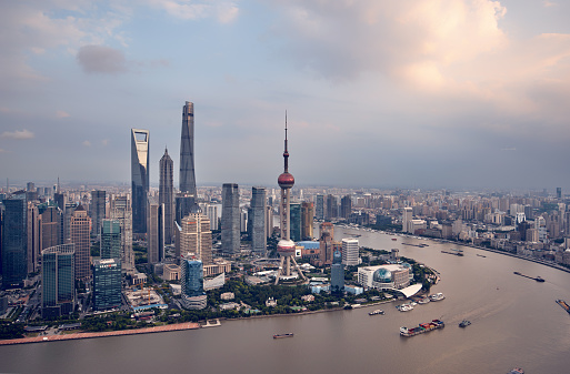 4k「近代的な街並みと上海の街並みの眺め」:スマホ壁紙(7)